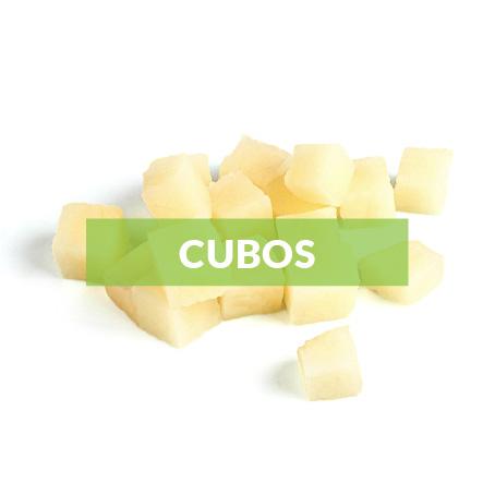 El corte en cubos o brunoise es un corte perfecto para: Preparaciones frías en ensaladas, pico de gallo. Preparaciones calientes: guisos, sofrito (base elaborada con mezcla de vegetales cebolla, pimentón, aji, tomate, ajo).Medida: 1cmx1cm +/-5mm